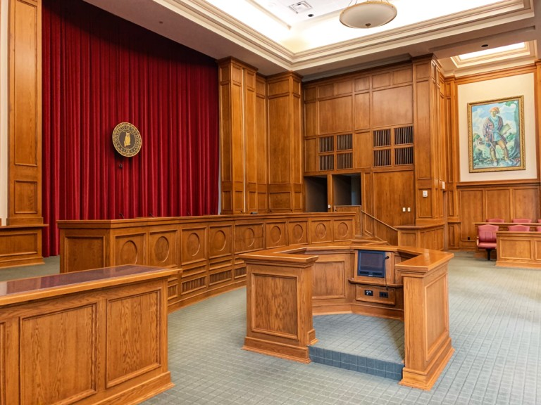 interior court room