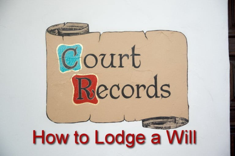 how to lodge a will in california