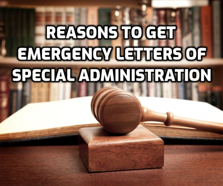 reasons to get emergency letters of special administration