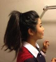bun thick hair