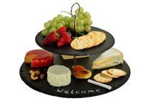 Serat Two-Layer Slate Cheese Board