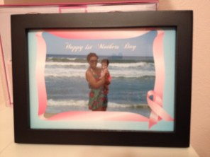 gift from Frank of baby girl's 1st beach trip