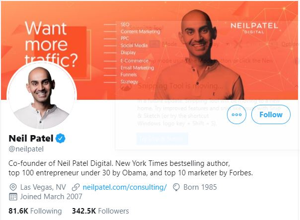 Neil Patel - SEO Enterprenuer and Advisor