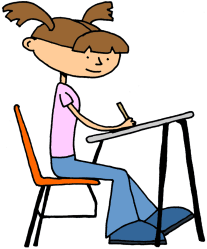 writing student clipart clip drawing stage scribbling stages development class eleve female academic une teacher