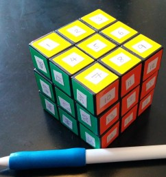 stickered rubik s cube [ 1005 x 892 Pixel ]