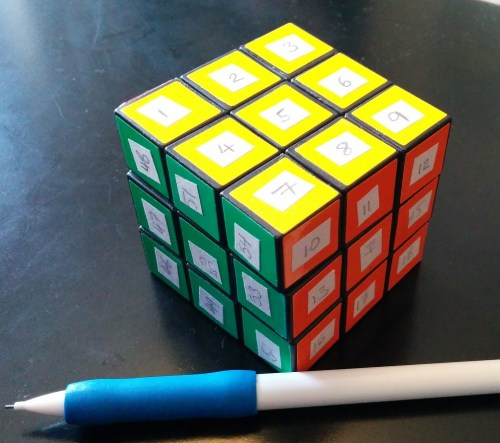small resolution of stickered rubik s cube