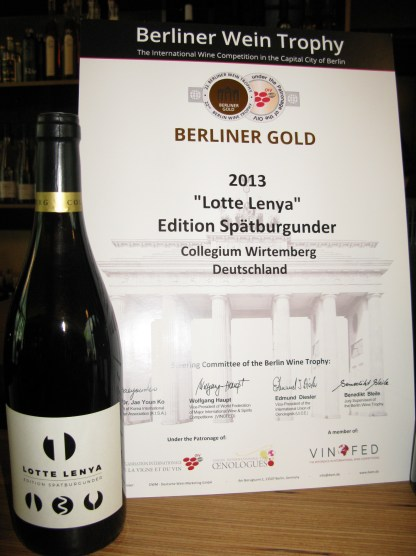 Lotte Lenya_Spätburgunder Weintrophy
