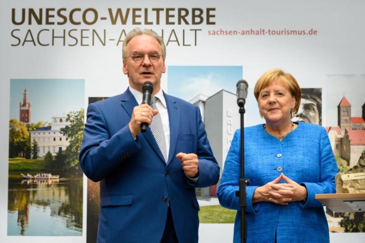 Angela Merkel auf Kultursommernacht 2018