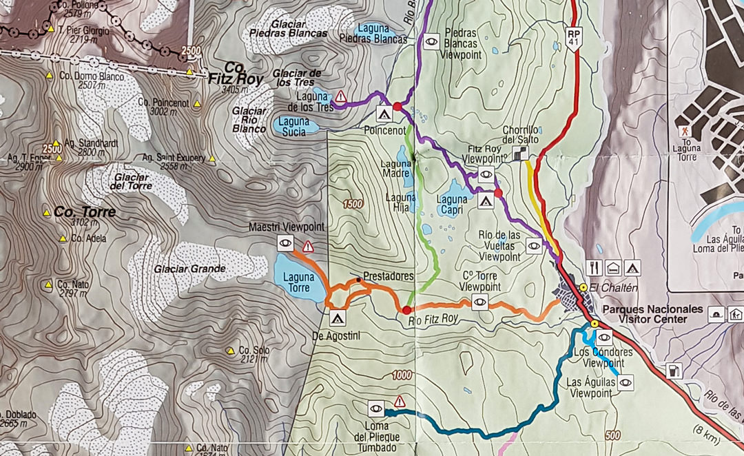 fitz roy and torre trail map