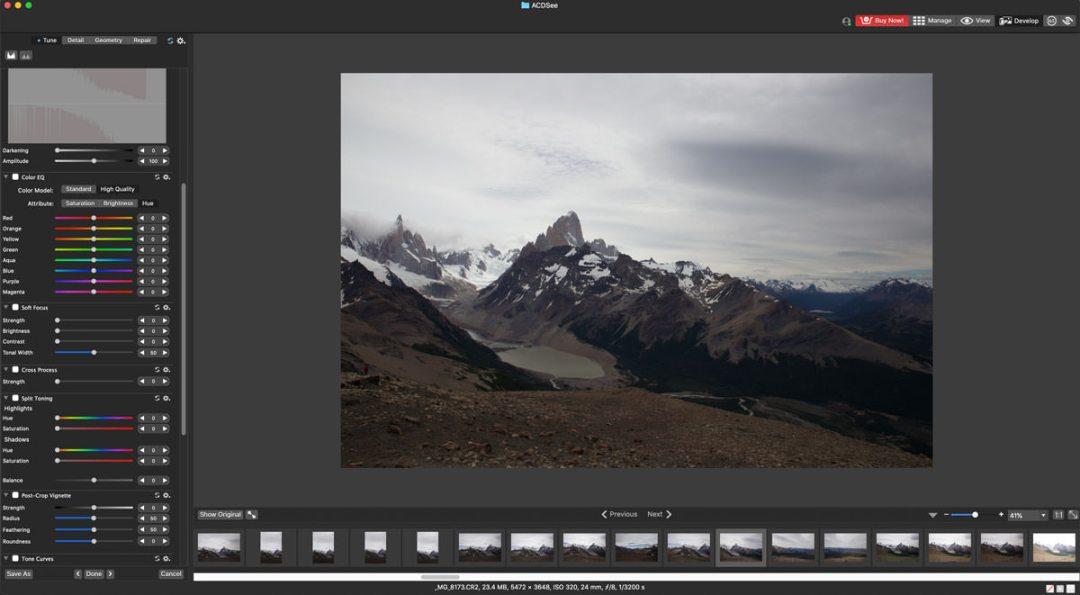 ACDSee Photo Studio image editing screenshot