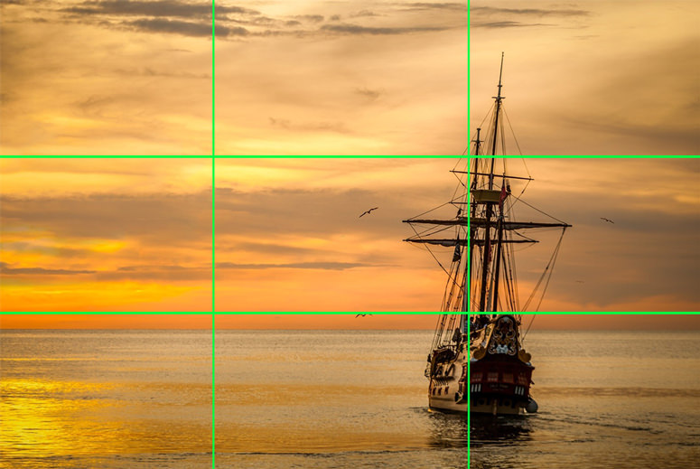 aesthetic composition rule of thirds photography