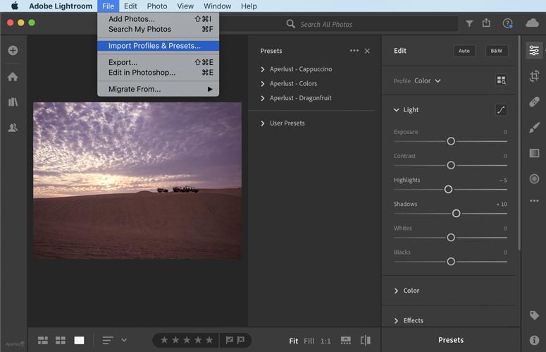 install presets into lightroom cc