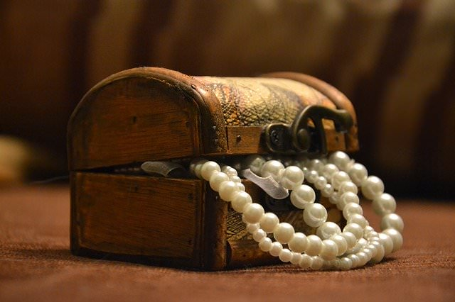 low-angle product photography jewelry