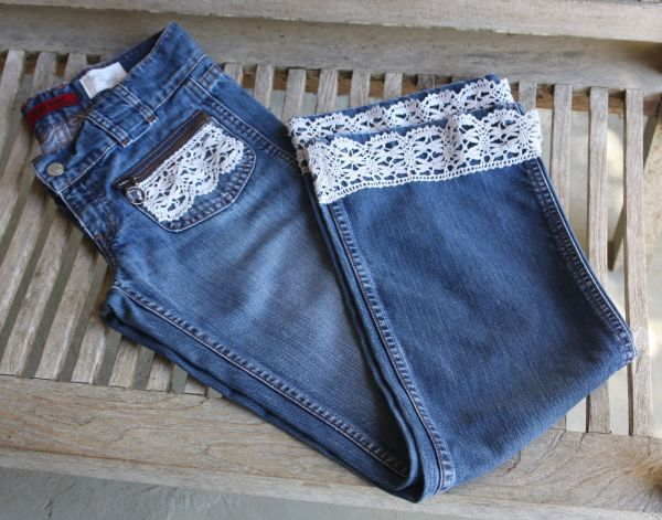 limited edition levis jeans mary beth with antique french lace