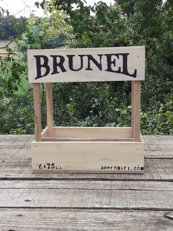 wooden beer crate brunel bieres