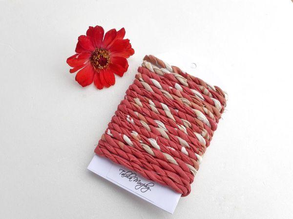 red rust fabric craft twine