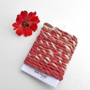 red rust fabric craft twine