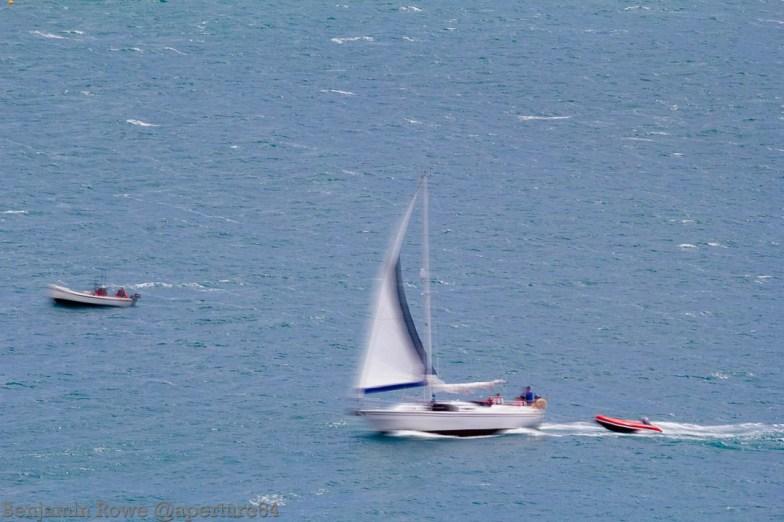 Sail Boat Path Blur