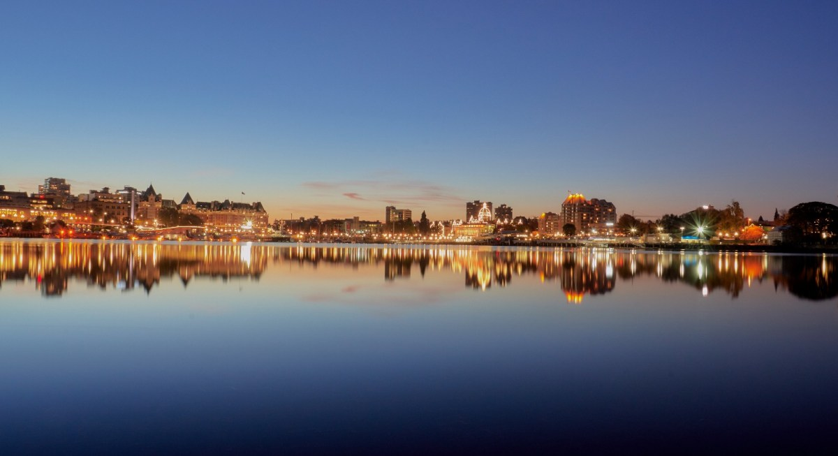 Sunrise over Victoria's Inner Harbour