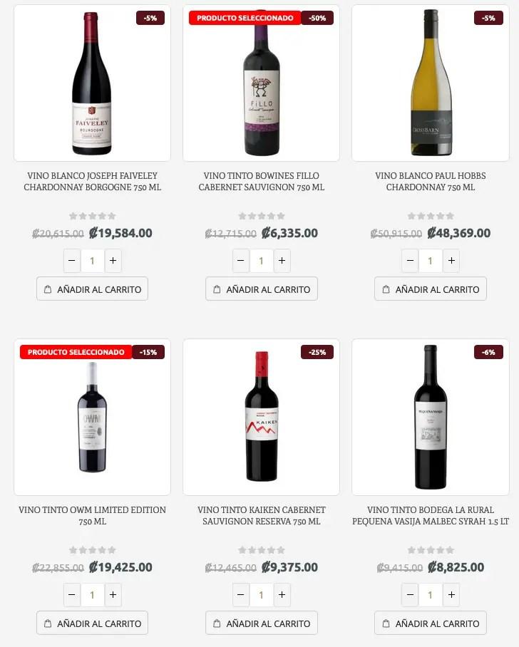 comprar vino en linea