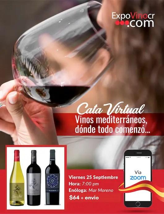 Cata virtual vinos mediterraneos