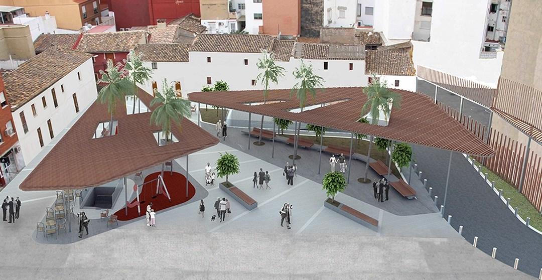 La reurbanización del espacio del mercado provisional de Torrent invitará al descanso y a la convivencia vecinal