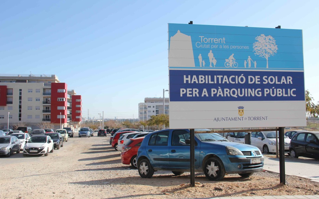 Torrent crea 959 plazas de aparcamiento gratuito en superficie