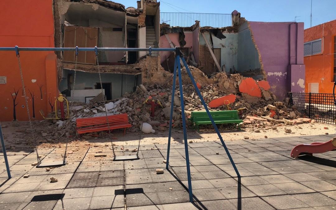"""Folgado: """"la vivienda que ha caído sobre los columpios de San Marcos es un aviso de cómo se encuentra el Centro Histórico de Torrent"""""""