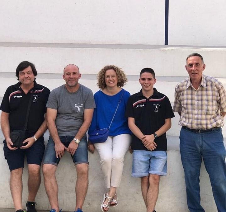 El PP en el día del Club de Pilota en el sexto aniversario de la reapertura del trinquet José María Veguer
