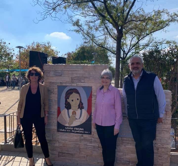 El PP acompaña a las Salesianas en la inauguración del monolito a Laura Vicuña