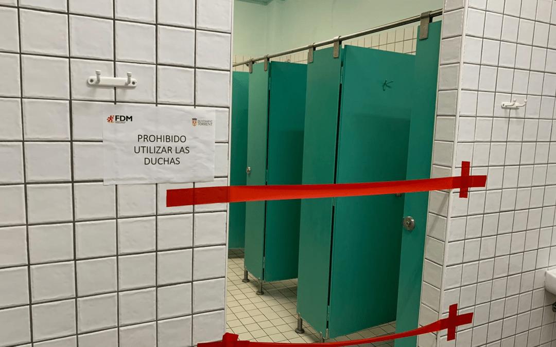 Usuarios de La Cotxera y Anabel Medina piden que reabran las duchas como en otras instalaciones deportivas municipales