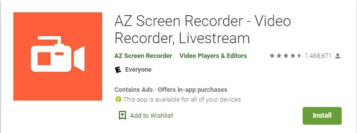 Best Apex Legends Mobile Screen Recorder (AZ Screen Recorder)