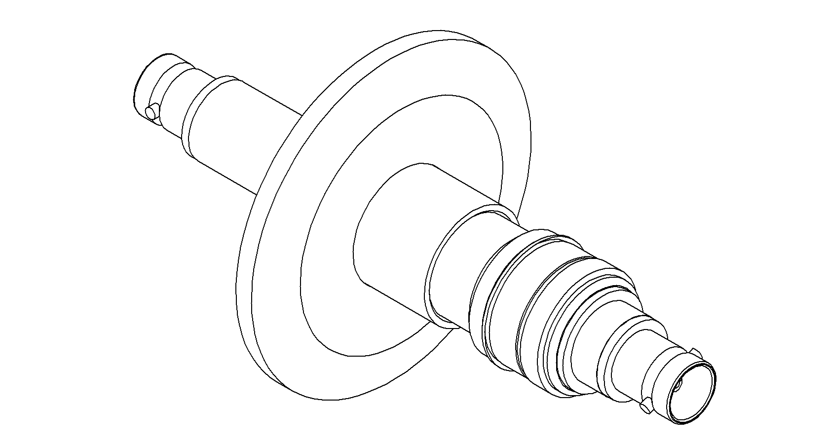 1 Pin Coaxial Bnc Quick Flange Double Ended Feedthrough Floating Shield
