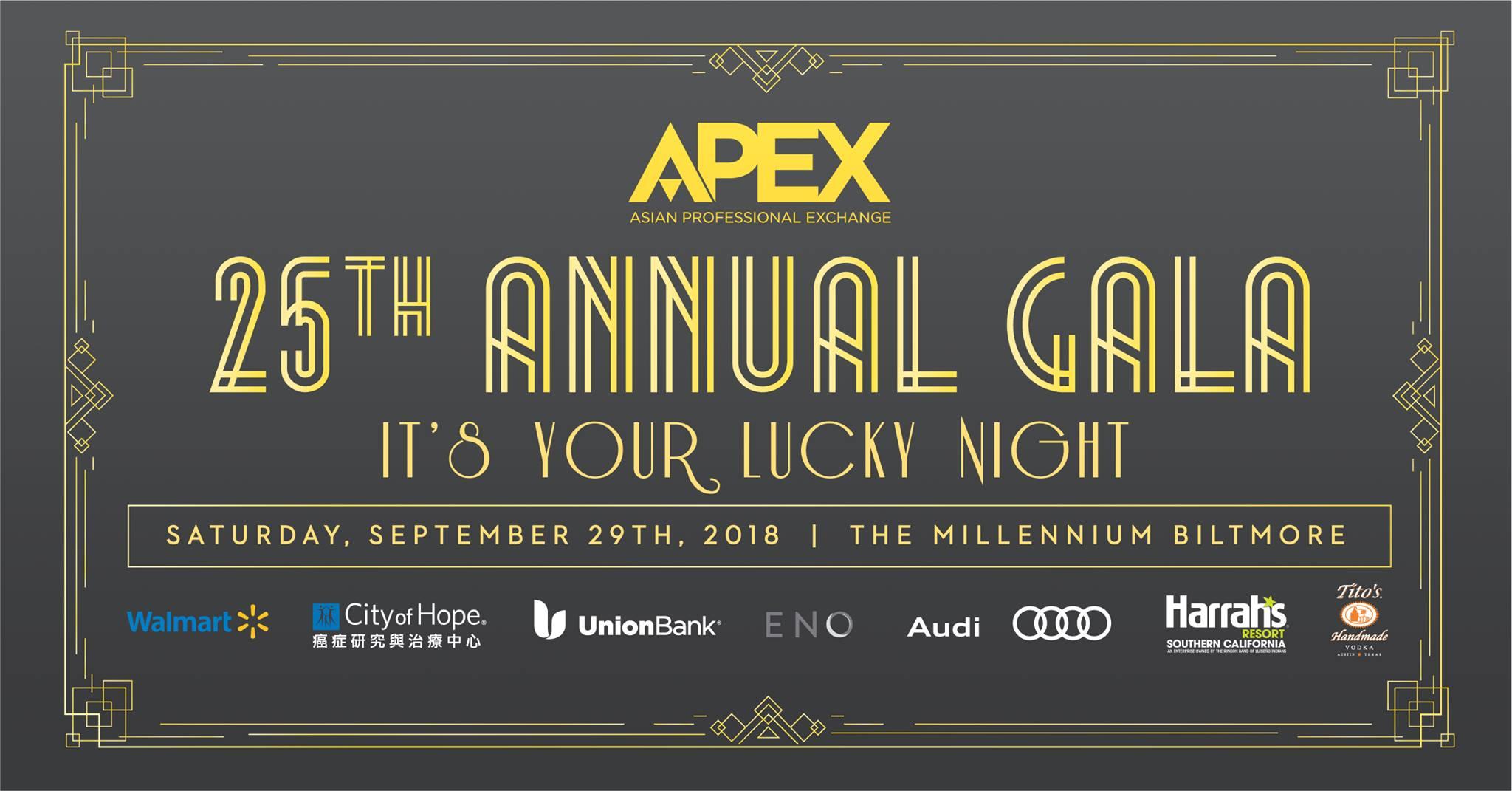 2018 APEX 25th Annual Gala