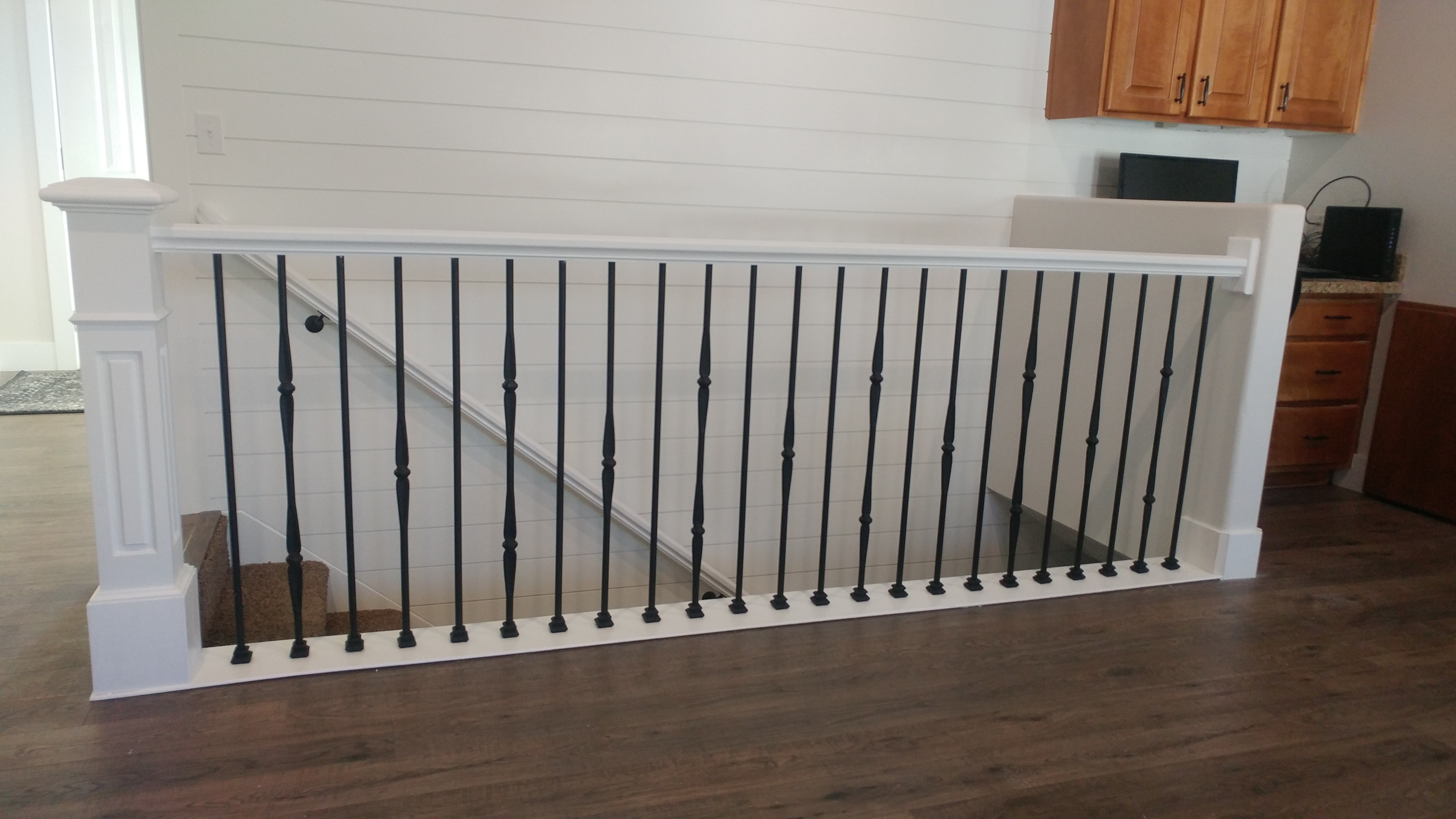 Salt Lake City Utah Custom Stair Railings And Banisters | White Wood Stair Railing | Entryway Stair | Metal | Outdoor Stair | Baluster Curved Stylish Overview Stair | Glass