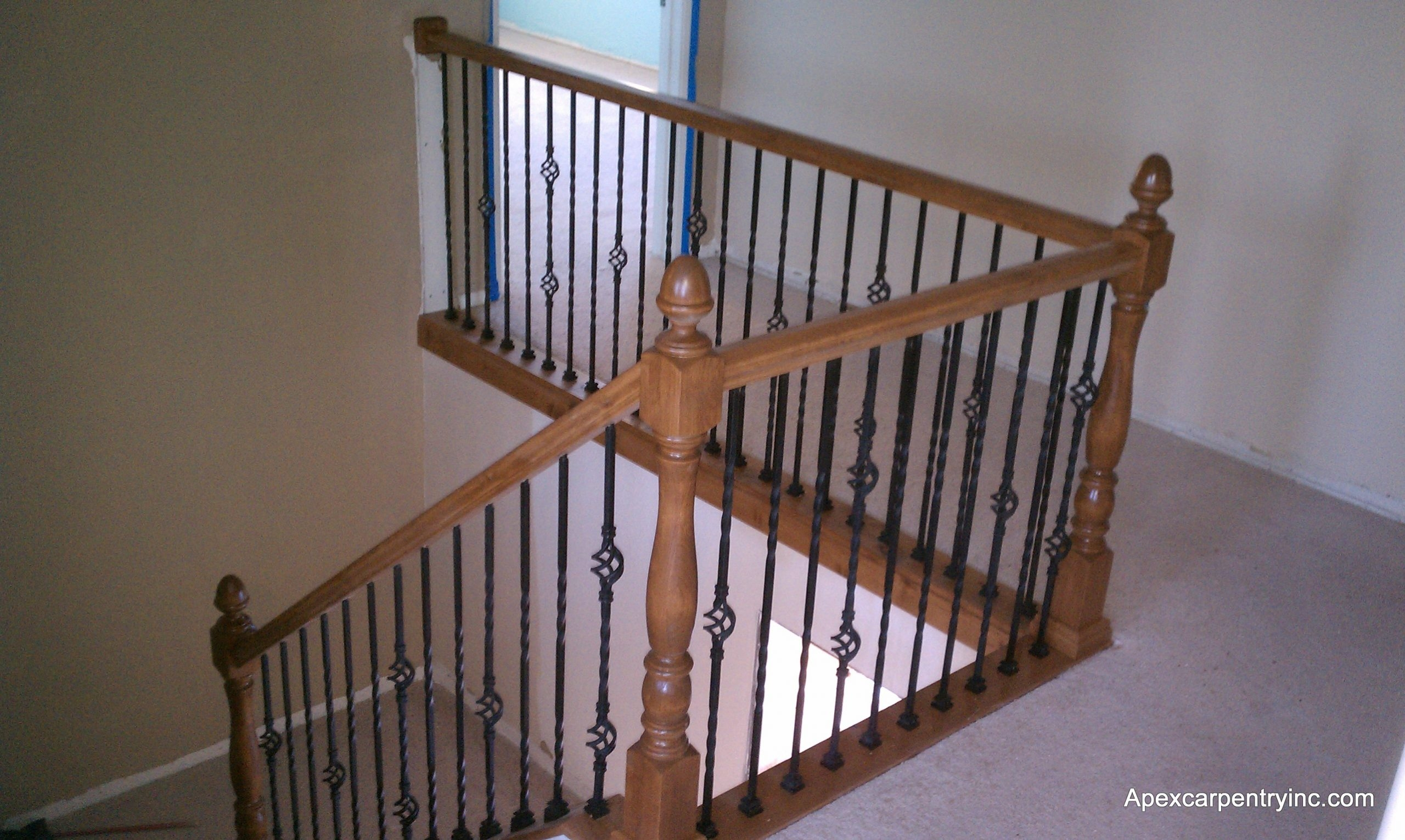 Utah Stair Railing   Shaker Style Newel Post   Stair Newel   Farmhouse   Stained   Porch   Shingle Style