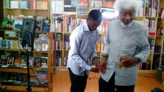Interview section with Wole Soyinka