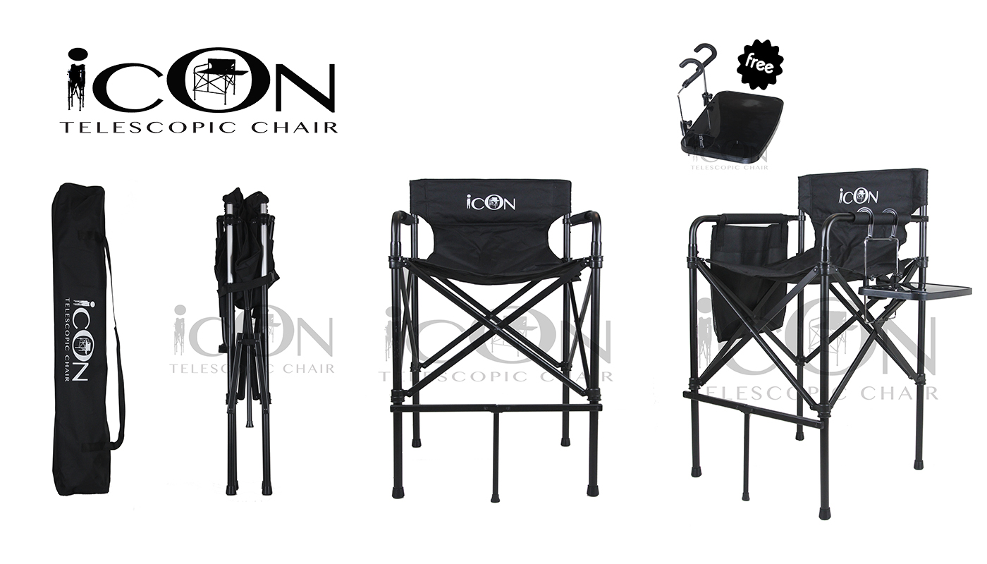 Portable Makeup Chair Icon Ultra Portable And Lightweight Telescopic Makeup