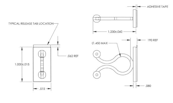 EZ Twist Lock on Adhesive Base : Apex Fasteners