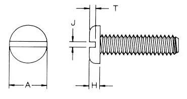 Metric Slotted Pan Machine Screw : Apex Fasteners