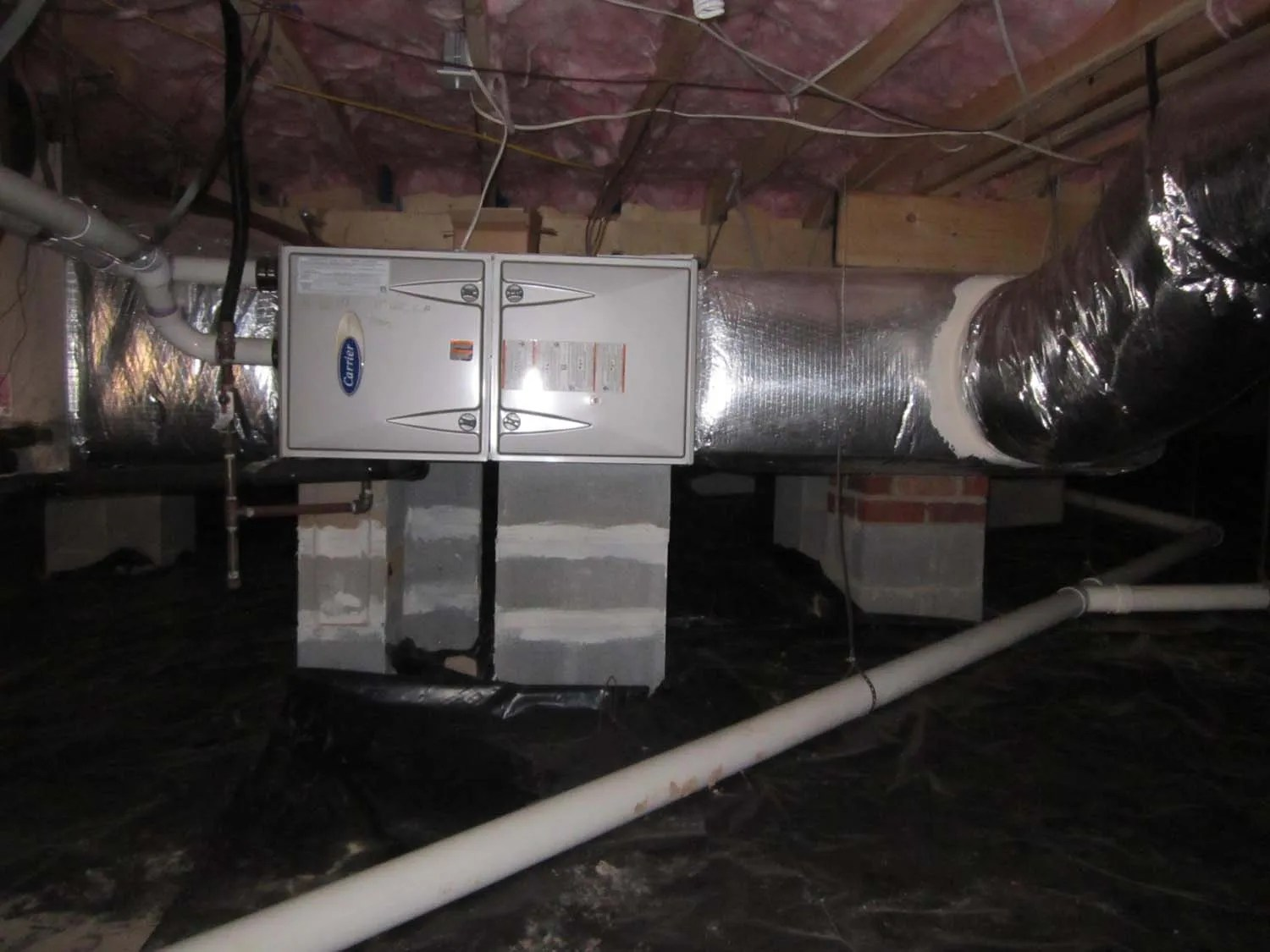 Clean HVAC Installation by Apex Heating and Air