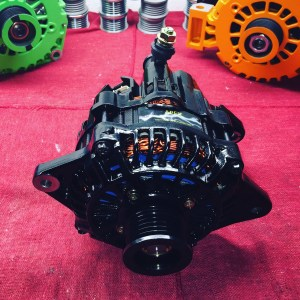black and blue high output alternator