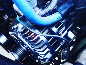 Installed apex alternator