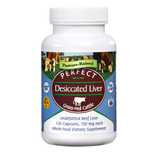 Bottle of Perfect Supplements Perfect Dessicated Liver