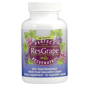 A bottle of Perfect Supplements Perfect ResGrape.