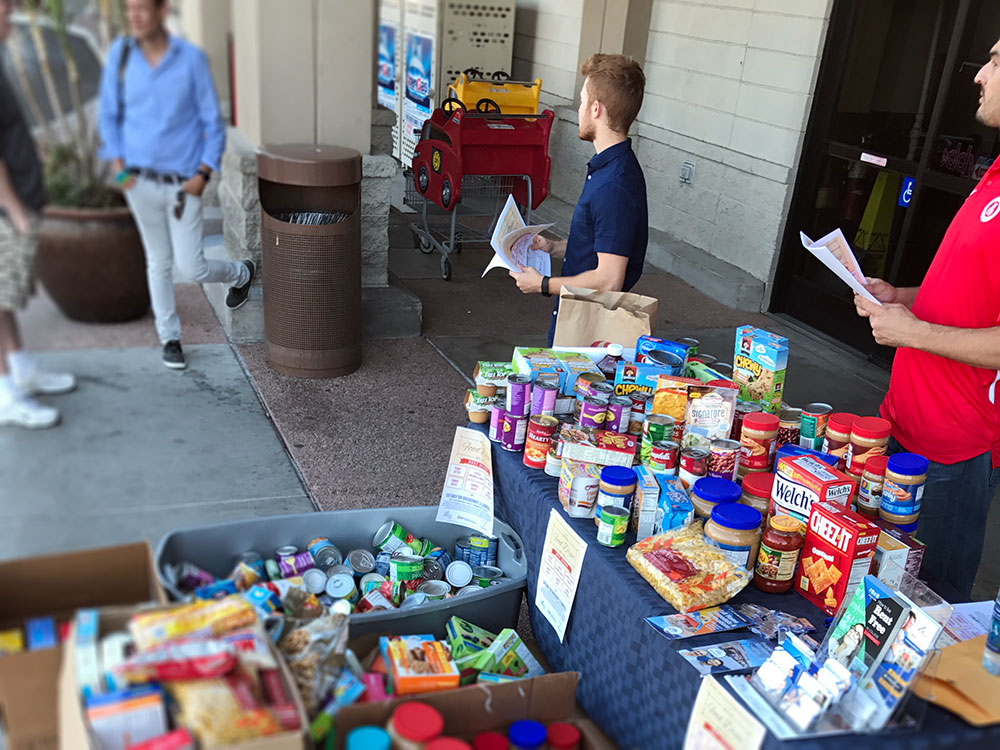 Food Drive with the Community Food Bank