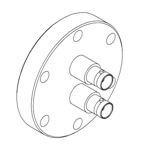 2 Pin Coaxial MHV Conflat Single-Ended Feedthrough