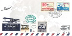 Epic Flight Centenary cover with Singapore & Australia stamps