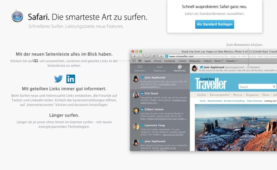 OS X Mavericks - Safari