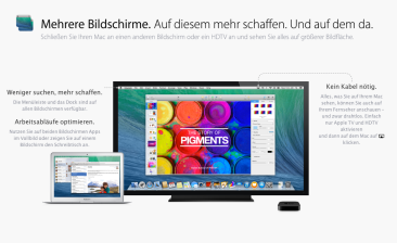 OS X Mavericks - Bildschirme